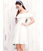 ガーベラレディース 韓国風 ぺプラム裾 着やせ 大きい裾 ひざ丈ワンピース ミディワンピース mb12265-2