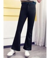 ガーベラレディース 韓国風 ファッション コーデアイテム 着やせ カジュアル ブーツカットパンツ ベルボトム mb12279-1