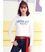 ガーベラレディース 韓国風 ファッション シンプル コーデアイテム 文字入り タートルネック 長袖 Tシャツ mb12293-2