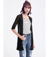 ガーベラレディース 韓国風 ファッション コーデアイテム 八分丈袖 ストレート ニットウェア カーディガン mb12301-1