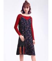 ガーベラレディース 韓国風 ファッション シンプル おおらか コーデアイテム プリーツ キャミソールワンピース ひざ下ワンピース mb12307-2