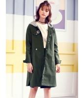 ガーベラレディース 韓国風 ファッション フード付き ロング丈 コート mb12312-1