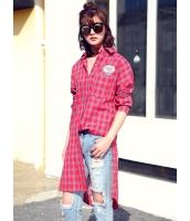 ガーベラレディース 韓国風 ファッション シンプル ハイロー 格子 シャツワンピース ミニワンピース mb12316-1