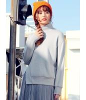 ガーベラレディース 韓国風 ファッション シンプル おおらか タートルネック ドロップショルダー 長袖 スウェット mb12319-2