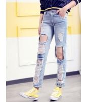ガーベラレディース 韓国風 ファッション コーデアイテム ダメージ デニム ジーンズ mb12322-1