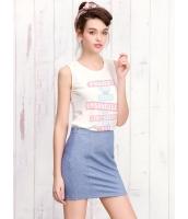 ガーベラレディース タンクトップ  韓国風 ファッション スポーティ 文字入り mb12380-2