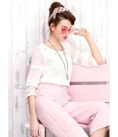 ガーベラレディース ブラウス 七分袖  韓国風 ファッション スイート ミニAライン コーデアイテム mb12399-2