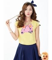 ガーベラレディース Tシャツ・カットソー 半袖  韓国風 クラシック mb12406-3
