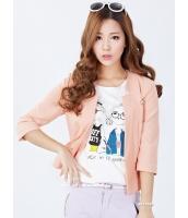 ガーベラレディース スタンドカラージャケット  韓国風 クラシック コーデアイテム ショート丈 mb12410-3