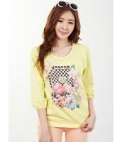 ガーベラレディース Tシャツ・カットソー 七分袖  韓国風 ファッション コーデアイテム mb12414-2