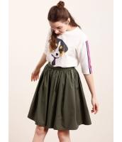 ガーベラレディース フレアスカート 膝丈スカート  韓国風 ファッション リラックス 綿質 大きい裾 mb12427-1