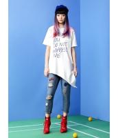 ガーベラレディース トレーナー・スウェット 半袖  韓国風 ファッション 丸首 ゆったり mb12447-1
