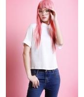 ガーベラレディース Tシャツ・カットソー 半袖  ファッション スタンドカラー mb12453-1