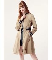 ガーベラレディース ミディアムコート  ファッション スタンドカラー ファスナー Aライン mb12454-2