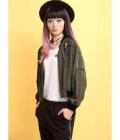 ガーベラレディース スタジャン ノーカラージャケット  ファッション ドルマン袖 ゆったり mb12464-2