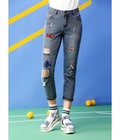 ガーベラレディース ジーンズ デニムパンツ サブリナパンツ ダメージジーンズ ファッション mb12469-1