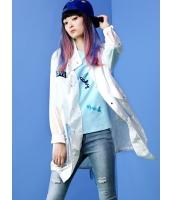 ガーベラレディース ミディアムコート  韓国風 ファッション 軽やか ダブルポケット 文字入り mb12473-1