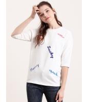 ガーベラレディース トレーナー・スウェット  韓国風 ファッション コーデアイテム 丸首 五分袖 mb12478-1