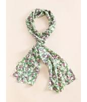 ガーベラレディース スカーフ  花柄 清楚 シフォン mb12542-1
