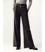 ガーベラレディース ワイドパンツ ベルボトム 韓国風 レトロ ファッション おおらか 薄手ウール mb12549-1