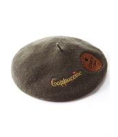 ガーベラレディース ベレー帽  韓国風 ファッション 可愛い ラビットファー mb12552-1
