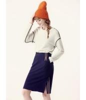 ガーベラレディース Tシャツ・カットソー 長袖  韓国風 ファッション シンプル リラックス 柔らか コーデアイテム 丸首 mb12554-3