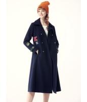 ガーベラレディース フリースコート ロングコート  韓国風 ファッション ダブルボタン シンプル ウール Aライン mb12563-1
