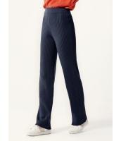 ガーベラレディース パンツ ニットウェア ファッション ゴムウエスト 厚手 柔らか ニット ハイウエスト mb12591-2
