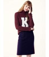 ガーベラレディース セーター 長袖 タートルネック 韓国風 ファッション フロント 文字入り 学生風 mb12594-2