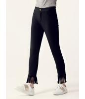 ガーベラレディース スキニーパンツ  韓国風 ファッション フリンジ 着やせ 九分丈 mb12595-1