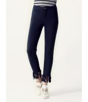ガーベラレディース スキニーパンツ  韓国風 ファッション フリンジ 着やせ 九分丈 mb12595-2