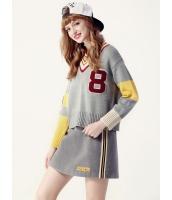 ガーベラレディース セーター 長袖  韓国風 ファッション Vネック シンプル おおらか ニットウェア mb12599-2