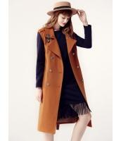 ガーベラレディース フリースコート ミディアムコート  韓国風 ファッション おおらか コーデアイテム ダブルボタン ウール ウエストバンド特典付き mb12602-2