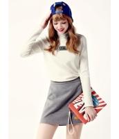 ガーベラレディース Tシャツ・カットソー 長袖  韓国風 ファッション シンプル タートルネック mb12605-1