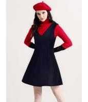ガーベラレディース ミニワンピース 袖なし フレアワンピ タンクトップワンピ 韓国風 大きい裾 パーティドレス ディープV mb12611-2