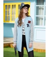 ガーベラレディース ミディアムコート  韓国風 トレンディ ファッション コーデアイテム ロング丈 スウェット mb12632-1
