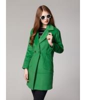 ガーベラレディース ミディアムコート  韓国風 ファッション ダブルボタン ロング丈 mb12639-1