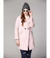ガーベラレディース ミディアムコート  韓国風 ファッション ダブルボタン mb12639-2