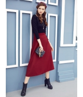 ガーベラレディース フレアスカート ロング・マキシスカート  クラシック 着やせ 大きい裾 厚手 ウール mb12641-1