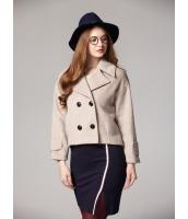 ガーベラレディース ショートコート  韓国風 ファッション ダブルボタン mb12650-2
