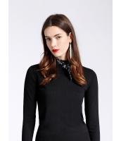 セーター 長袖 OL シンプル ショート丈 スカーフ特典付き mb12684-1
