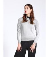 セーター 長袖 OL シンプル ショート丈 スカーフ特典付き mb12684-2