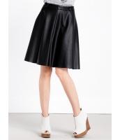 ガーベラレディース フレアスカート 膝丈スカート  PUレザー 大きい裾 mb13057-1