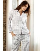 パジャマ ルームウェア ナイトトウェア 綿質 長袖 上下セット mb13222-1
