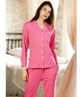 パジャマ ルームウェア ナイトトウェア クラシック 綿質 肌に優しい 長袖 上下セット mb13226-1