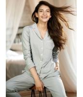 パジャマ ルームウェア ナイトトウェア クラシック 綿質 肌に優しい 長袖 上下セット mb13226-2