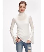 セーター 長袖 薄手 タートルネック ワイド袖 mb13881-1