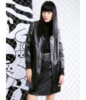 レザージャケット・革ジャン ウインドブレーカー ミディアムコート 個性派 ストリートファッション ステンカラー 長袖 mb14016-1