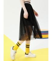 プリーツスカート 膝丈スカート 個性派 ゴムウエスト コーデアイテム mb14072-1