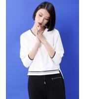 Tシャツ・カットソー 長袖 欧米風 ハイロー ゆったり Vネック mb14081-1